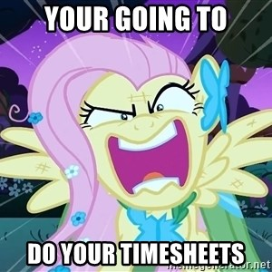 angry-fluttershy - Your going to do your timesheets