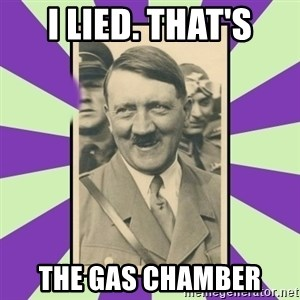 Hitler Smiling - i lied. that's the gas chamber
