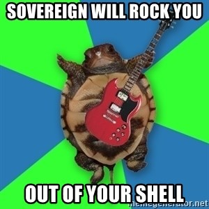 Aspiring Musician Turtle - Sovereign will rock you  Out of your shell