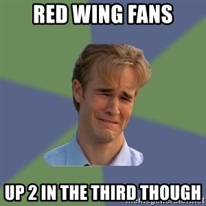 Sad Face Guy - Red wing fans Up 2 in the third though