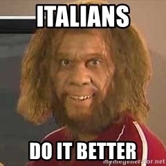 Geico Caveman - italians do it better