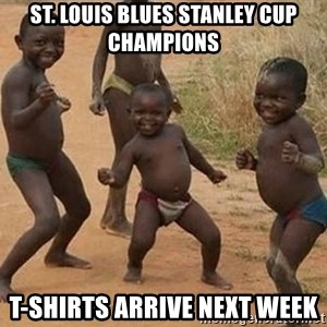 Dancing african boy - st. louis blues stanley cup champions t-shirts arrive next week