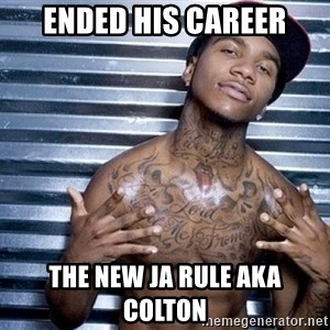 lil b - Ended his career The new Ja Rule aka Colton