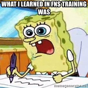Spongebob What I Learned In Boating School Is - what I learned in FNS training was