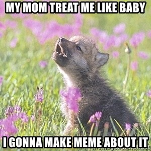 Baby Insanity Wolf - my mom treat me like baby i gonna make meme about it