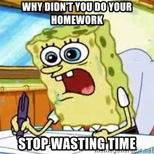 Spongebob What I Learned In Boating School Is - Why didn't you do your homework Stop wasting time