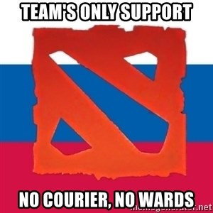 Dota2 Russian - Team's only support No courier, no wards