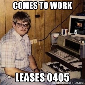 Nerd - comes to work leases 0405