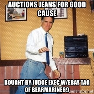 Mom Jeans Mitt - auctions jeans for good cause bought by judge exec w/ebay tag of bearmarine69