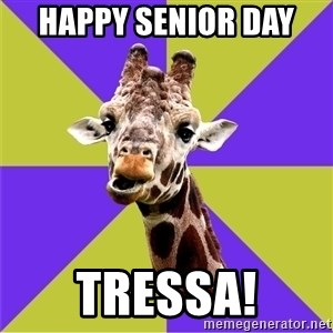 Photoshop Artist Giraffe - Happy Senior Day  Tressa!