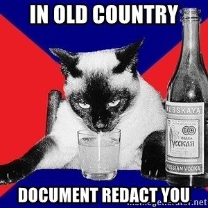 Alco-cat - In old country document redact you