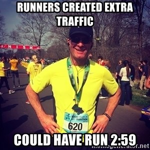 MikeRossiCheat - Runners created extra traffic Could have run 2:59