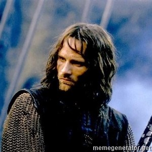 Not this day Aragorn -