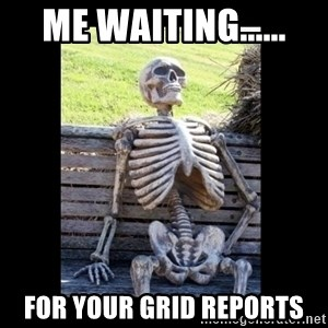 Still Waiting - Me waiting...... For your GRID Reports