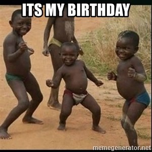 Dancing black kid - its my birthday