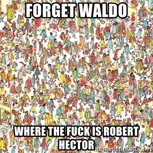 wheres waldo crowd - Forget waldo where the fuck is robert hector