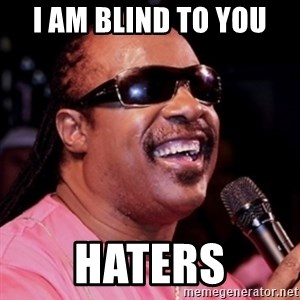 stevie wonder - I am blind to you HATERS