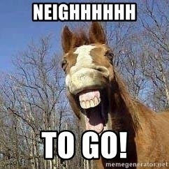Horse - NEIGHHHHHH TO GO!