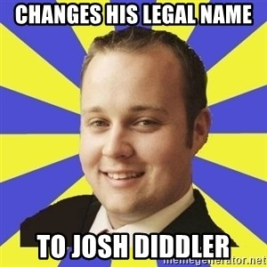 Smuggar - Changes his legal name To Josh Diddler