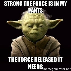 ProYodaAdvice - STRONG THE FORCE IS IN MY PANTS  THE FORCE RELEASED IT NEEDS