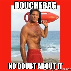 david hasselhoff - douchebag no doubt about it