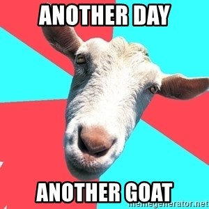 Oblivious Activist Goat - Another day Another goat