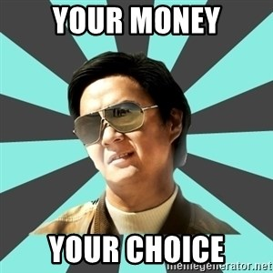 mr chow - your money your choice