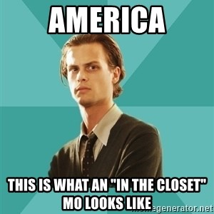 "spencer reid - america this is what an ""in the closet"" mo looks like"