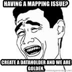 Yao Ming Meme - Having a mapping issue? Create a dataholder and we are golden.
