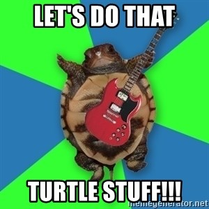 Aspiring Musician Turtle - Let's do that Turtle stuff!!!