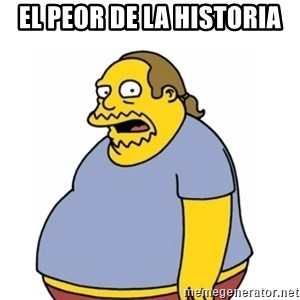 Comic Book Guy Worst Ever - El peor de la historia