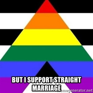 Bad Straight Ally -  but I support straight marriage