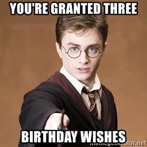 Advice Harry Potter - you're granted three  birthday wishes