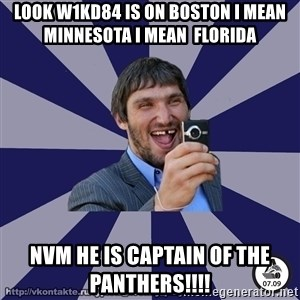 typical_hockey_player - LOOK W1KD84 IS ON BOSTON I MEAN MINNESOTA I MEAN  FLORIDA NVM HE IS CAPTAIN OF THE PANTHERS!!!!