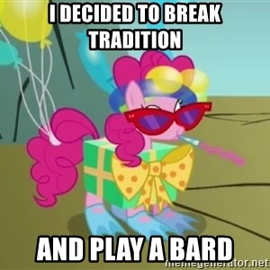 pinkie pie dragonshy - i decided to break tradition and play a bard