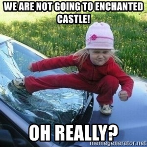 Angry Karate Girl - We are not going to enchanted castle! Oh Really?