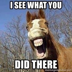 Horse - I see what you  did there