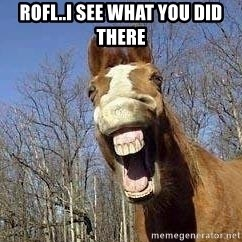 Horse - ROFL..I see what you did there