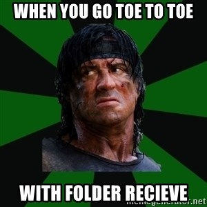 remboraiden - When you go toe to toe with folder recieve
