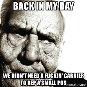 Back In My Day - Back In My Day We didn't need a fuckin' Carrier to rep a small POS