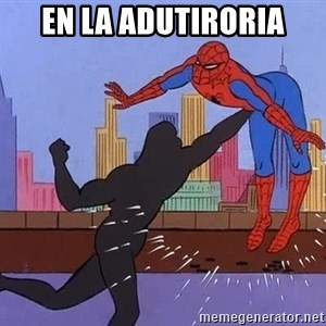 crotch punch spiderman - En la Adutiroria