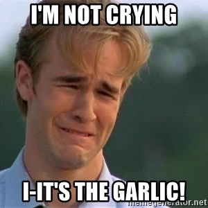 James Van Der Beek - I'M NOT CRYING I-IT'S THE GARLIC!