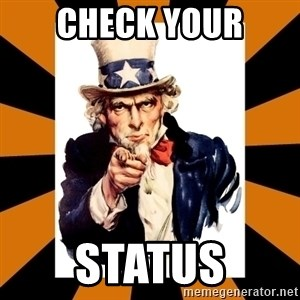 Uncle sam wants you! - Check your status