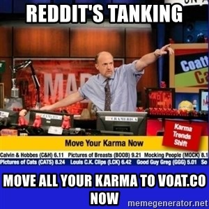 Move Your Karma - reddit's tanking move all your karma to voat.co now