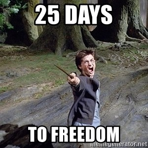 Pissed off Harry - 25 days to freedom