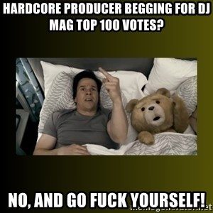 ted fuck you thunder - hardcore producer begging for dj mag top 100 votes? no, and go fuck yourself!
