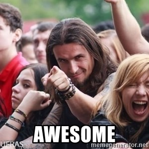 Ridiculously Photogenic Metalhead Guy -  Awesome