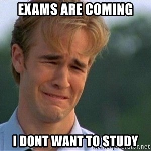 Crying Man - Exams are coming I dont want to study