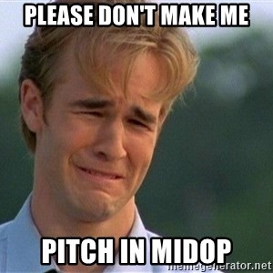 Crying Man - Please don't make me pitch in Midop