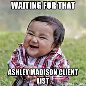 Evil kid - waiting for that ashley madison client list